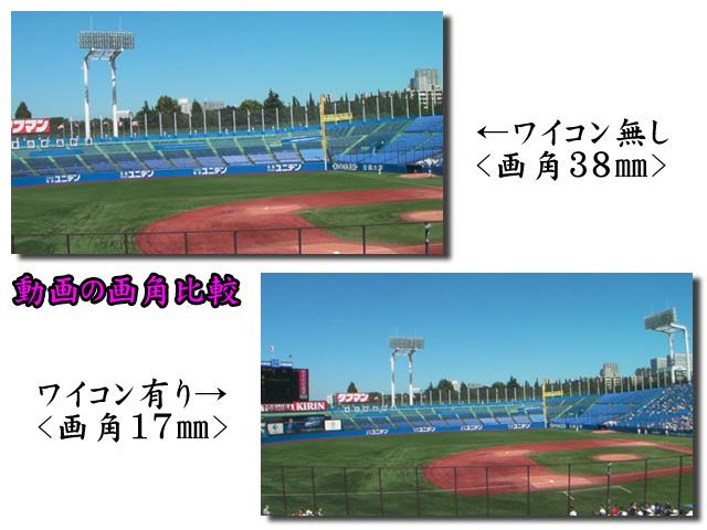 HD800 動画の画角比較